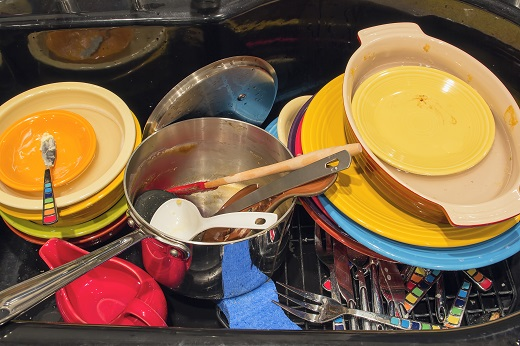 Dirty Dishes Invite Pests For Dinner